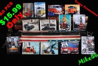 [ Mike86 ] $15=13pcs Metal Tin Signs Small Poster Iron Painting Car Motor Route 66 Bar Retro RA-31 Metal paintings Deco 11*8 CM