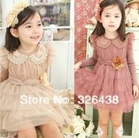 (5pcs/lot)Children's Dresses girl's lace princess Net yarn dress Doll brought dress girls tutu dress spring autumn