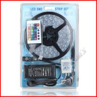 ( 20 pcs/lot ) 12V IP67 Silicone Tube 5050 RGB Waterproof LED Strip 300 LEDs 60 LEDs/M+5A Power Supply+ 24 Key Remote Controller
