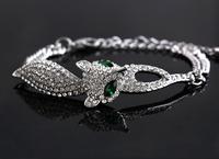 Fashion Fox Women Bracelet Brand Party Accessories for women Austrian Crystal Swa Element Bracelets & Bangles free shipping