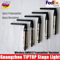5pcs/lot 2.4Ghz wireless DMX Controller,1pcs Transmitters+4pcs Receiver DMX wireless Controller Led Stage Light Controller