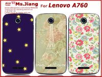 in Stock ! Hot Selling Printed Hard Back Cover Case for Lenovo A760 Phone Case Fit A760 cover + Free Screen Protector