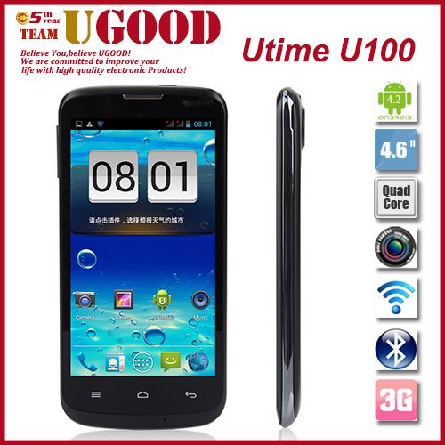 "Utime U100 MTK6582 1.3GHz Quad Core Android 4.2 WCDMA 3G Mobile Phone 512MB RAM 4GB ROM 4.6"" Screen 8.0MP Camera Wifi Bluetooth(China (Mainland))"