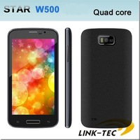 New Star W500 Quad core MTk6582 Android 4.2 cell phone 5.0 Inch IPS WCDMA 3G GPS smartphone Unlocked 512MB/4GB Dual Sim phones