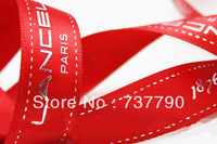 2cm,custom printed logo ribbon/gift packaging polyester decoration ribbon/print gold or silver