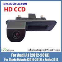 Night vision CCD Car backup Handle camera for Audi A1 for Skoda octavia Fabia color waterproof car reversing car parking camera