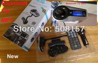 Free shipping Car Bluetooth MP3 Player FM Radio Modulator  USB/TF Bluetooh Car Handsfree  steering wheel Remote Control