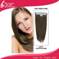 41cm/46cm/51cm/56cm Indian human tape Hair Extensions #8 light chestnut color 30g/40g/50g/60gram per pack containing 20pieces