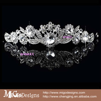 Hot Fashion hair accessories Clear Big Crystal Elegance Tiara For Evening Party Accessories tiara crown