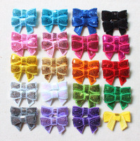 """Wholesale 1.5"""" mini baby sequin bows hair bows as headband flower accessories 19colors in stock"""