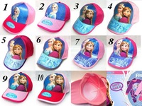 Free Shipping girlsfrozen brand hats children's fashion baseball caps children's summer frozen baseball cape for 0-7years