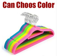 Free shipping Colorful quality Velvet Hanger for Clothes,hanger slip-resistant hanger magic hanger belt