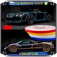 4700CM*1CM Super reflective strip car be light garland luminous stickers body decoration full reflectors vw becomes