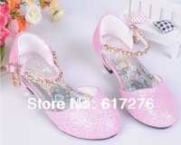 2014 princess girls sandals girls high-heeled shoes children mary jane shoes dress girls shoes pink,gold, silver ,blue