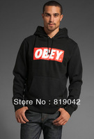 you will miss 18.89$=2014 High quality Thickening Fashion Obey Sweatshirt Hiphop male men with a hood pocket  Plus Size