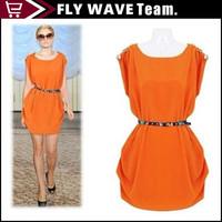 Pretty women mini dress with chain Fashion clubbing wear Solid sleeveless Bodycon Dress NZS061 clearance sale