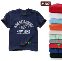 new 2014 summer children's cotton T-shirt boys and girls fashion casual sports stitching t shirts kids clothing