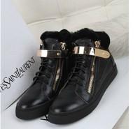 fur GZ women shoes flats new 2013 women sneakers designer shoes flats women shoes  women genuine leather  sneaker shoes