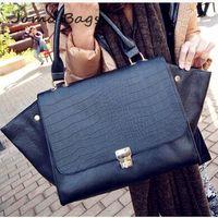 2014 New arrive Top selling European and American Crocodile Pattern Bat Large Capacity Handbag Women Design Messenger Bag K169