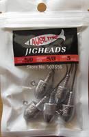 10XSize 5/0, 5/8 OZ Jig Heads High Chemically Sharpened Hooks, Fishing Tackle