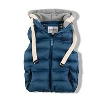 wd5 retail new 2014 winter children coat blue / orange color boys clothes warm 3-10 age kids vest free shipping