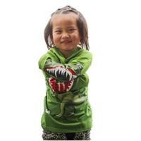 Novelty 3D Dinosaur / dog / crocodile baby boys girls t shirts children hoodies  Free shipping (5pcs/lot) 3~11age shij