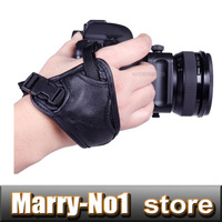 High Quality Faux Leather Hand Grip Wrist strap Photo Studio Accessories For 5d 350d 450d d90 d3100 d5100 fit all DSLR camera