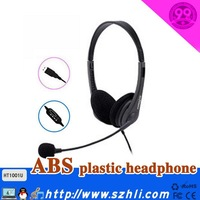 USB plug interface game player headphones black double ear Headphones headset, call center earphone, USB plug computer