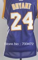 Free Shipping,#24 Kobe Bryant Women's Basketball Jersey,Sports Jersey,Embroidery logos,Size S--2XL,Factory Directly Supply