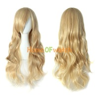 Hot sale Charming Blonde Long Wavy Costume Wig Hair  (NBW0WG60014-BD2)