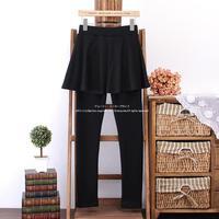 New plus size women thick fleece fall winter Slim skirt Leggings