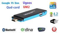 Quad-core mini PC android 4.2 TV box stick dongle UM2 RK3188 2GB/8GB Bluetooth DLNA 1080P XBMC whole sale 10pcs/lots
