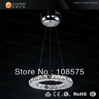 Diamond Ring dia30cm LED Crystal Chandelier dining bedroom lights Modern Pendant Lamp different size OM818/30E free shipping
