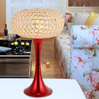 free shipping Modern brief k9 crystal gift wedding decoration table lamp ofhead dimming