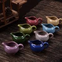 Free shipping beautiful cracke glazed ceramic kung fu tea thickening Fair mug tea tray justice cup 130ml