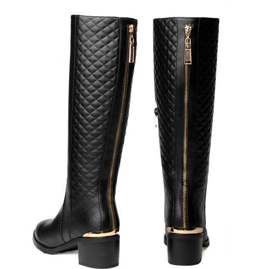 Livraison gratuite sur genou, natrual real cuir véritable des femmes bottes de neige plat chaud boot shoe taille eur 35-42 vintage design de marque