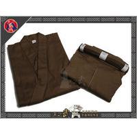 Top Quality Traditional 8800# 100% Cotton Samurai Iaido Aikido Kendo Brown Set Hakama Gi Martial Arts Free Shipping