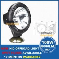 "2 PCS 55W 7"" 12V H3 bulb 6000LM Hid Work Lamp HID Working Lights HID Xenon Lamp HID Spot Light With Internal Slim Ballast"