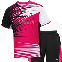 Wholesale! 2014 NEW Victory men table tennis clothing / Badminton T-shirt+shorts free shipping