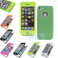 For Iphone 5 5S Leather Case Multi Touch Screen cover screen protective sleeve + PEN A141
