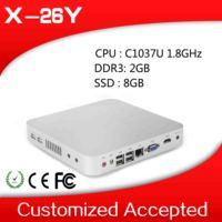 OEM  two Lan port mini computer 2X LAN box pc desktop pc C1037U 2G RAM, 8G SSD  Support wifi and video