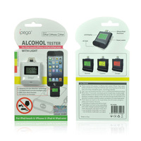 IPEGA Alcohol Tester Meter Alcoholometer Breathalyzer 3 Color LCD for iPhone 5 5S ipad 4 Mini