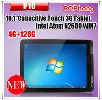 Intel Atom N2600 Dual Core Tablet 10 inch 4G RAM 128G SSD Tablet PC Windows 7 HDMI P10