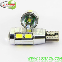 2014 NEWS !! Free shipping 2PC/lot  Car Auto LED T10 194 W5W Canbus 8 smd 5630 cree LED Light Bulb No error led light