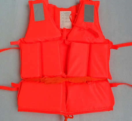 wholesale! Orange foam life vest life jacket ,swimwear life saving vest ,fishing clothing with rescue Whistle for adult,child(China (Mainland))