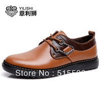 Free shipping new 2013 male business casual leather shoes fashion genuine leather shoes