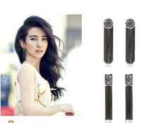 Women's Bohemia Vintage Big Stud Tassel Pierced Ultra Long Paragraph Earring 319