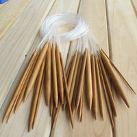 Free shipping   upscale sweater needle / carbonized bamboo knitting needles knitting tools ring full length 43cm