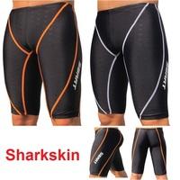 Sharkskin race long sports swim shorts men beach speedo trunks wimwear Beachwear swimming bermuda surf brand briefs board shorts