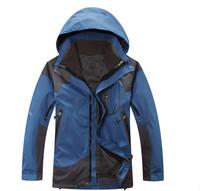 Waterproof Windproof Outdoor Men Jacket Winter Sport Brand Double Layer 2 in1 Snow Ski Coat Skiing Camping & Hiking Sportswear